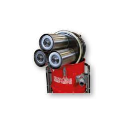 Les 3 filtres H14 présents dans l'aspirateur TNS EVO 3